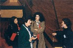 L'artista con la soprano Nausicaa Policicchio e la direttrice Tiziana Valente nell'Auditorio del Forte Spagnolo dell'Aquila